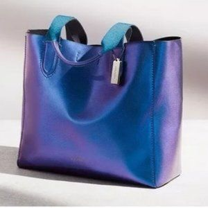 Coach Hologram Iridescent Leather Tote Bag